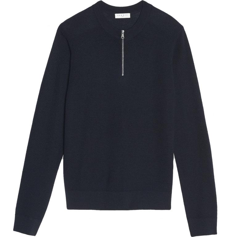 Sandro-half-zip-sweater-men