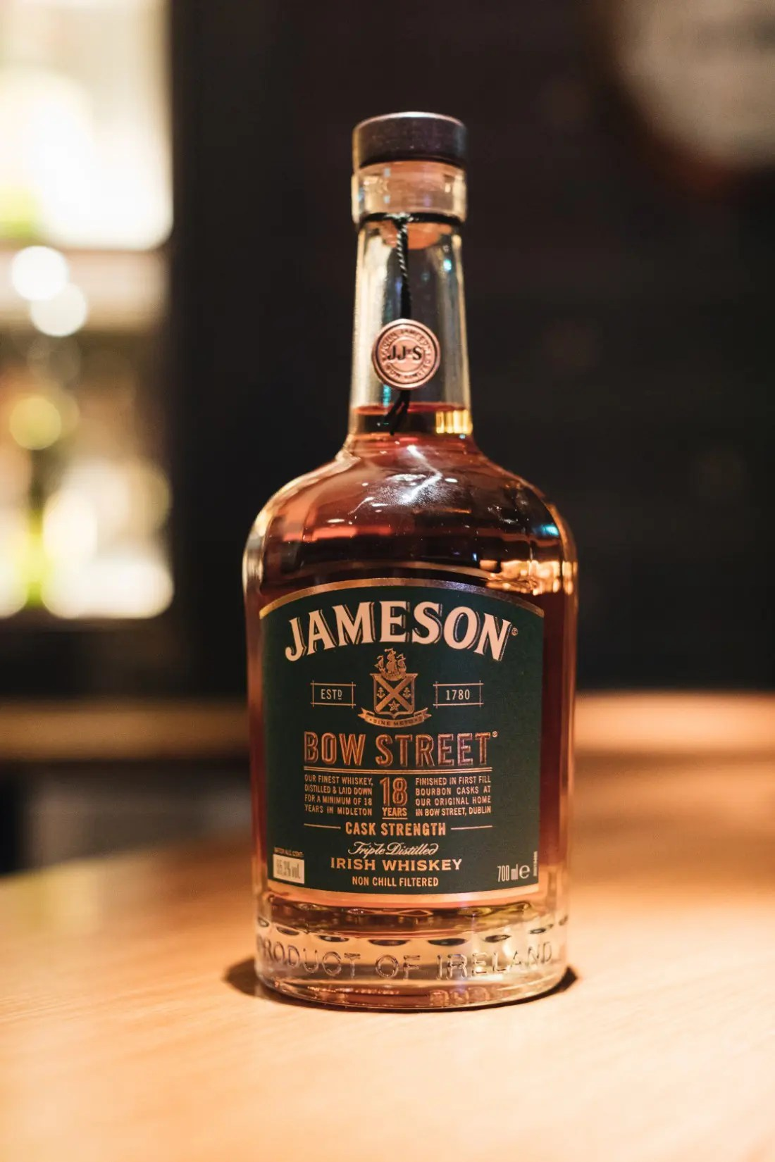 Jameson Bow Street 18 Years Cask Strength Whisky