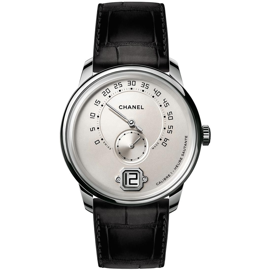 Chanel Monsieur white gold watch for men