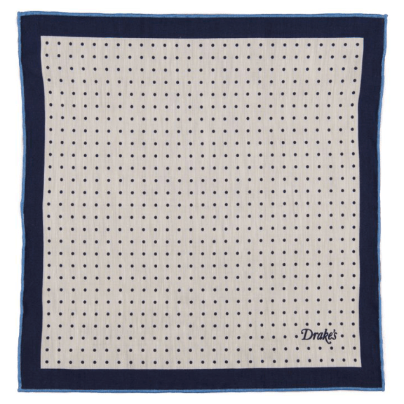 Drake's-navy-pocket-square
