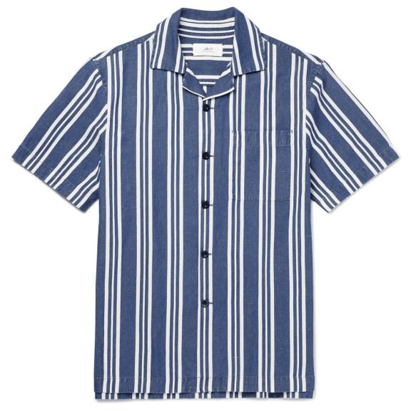 MR-P.-Striped-Cotton,-Linen-And-Silk-Blend-Shirt