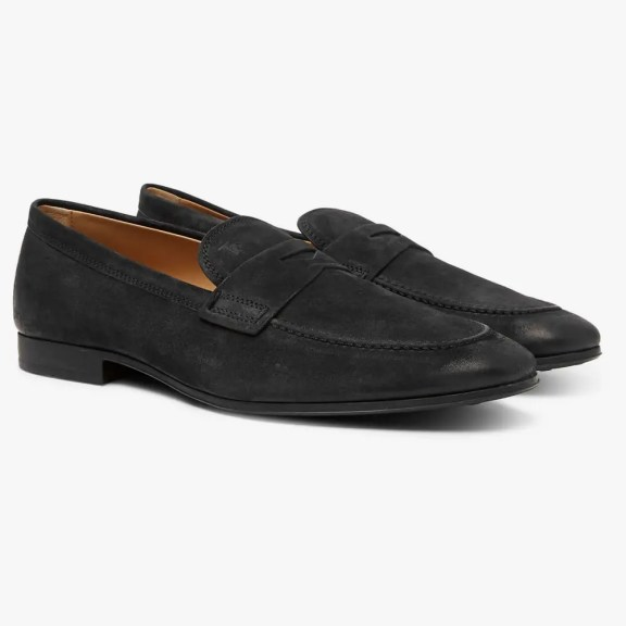 tods-suede-loafers-black