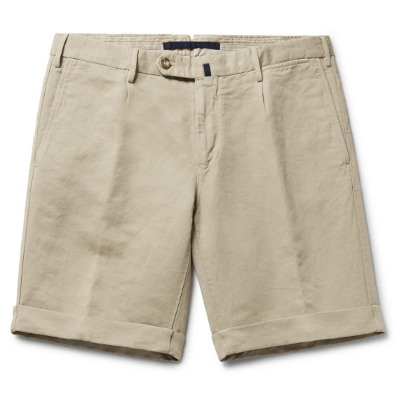 INCOTEX-Slim-Fit-Linen-And-Cotton-Blend-Shorts