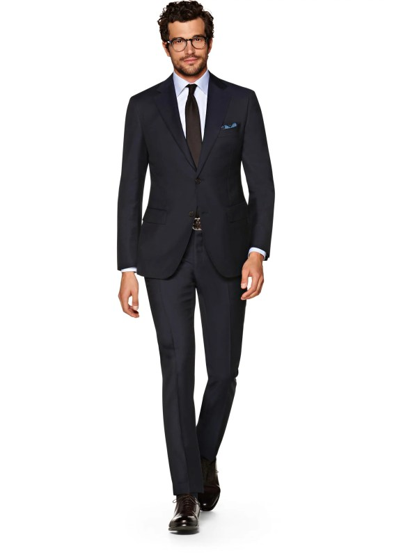 Suitsupply Napoli Navy Plain Suit, £299 >