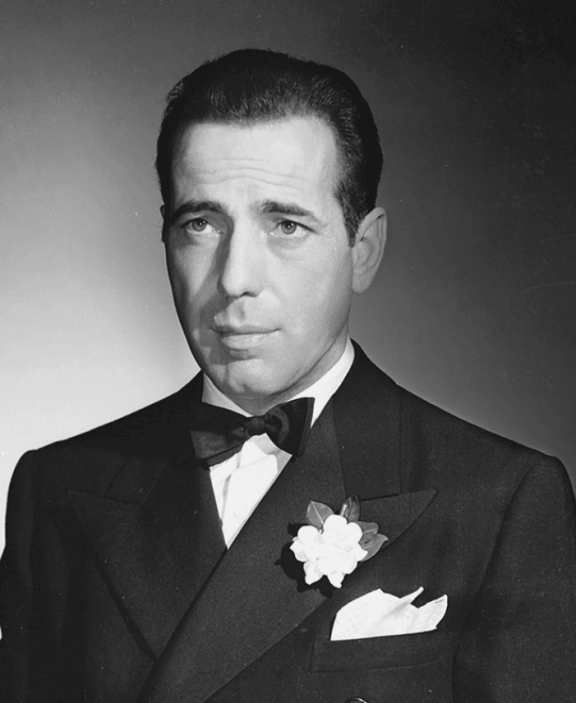 Humphrey Bogart in Black Tie