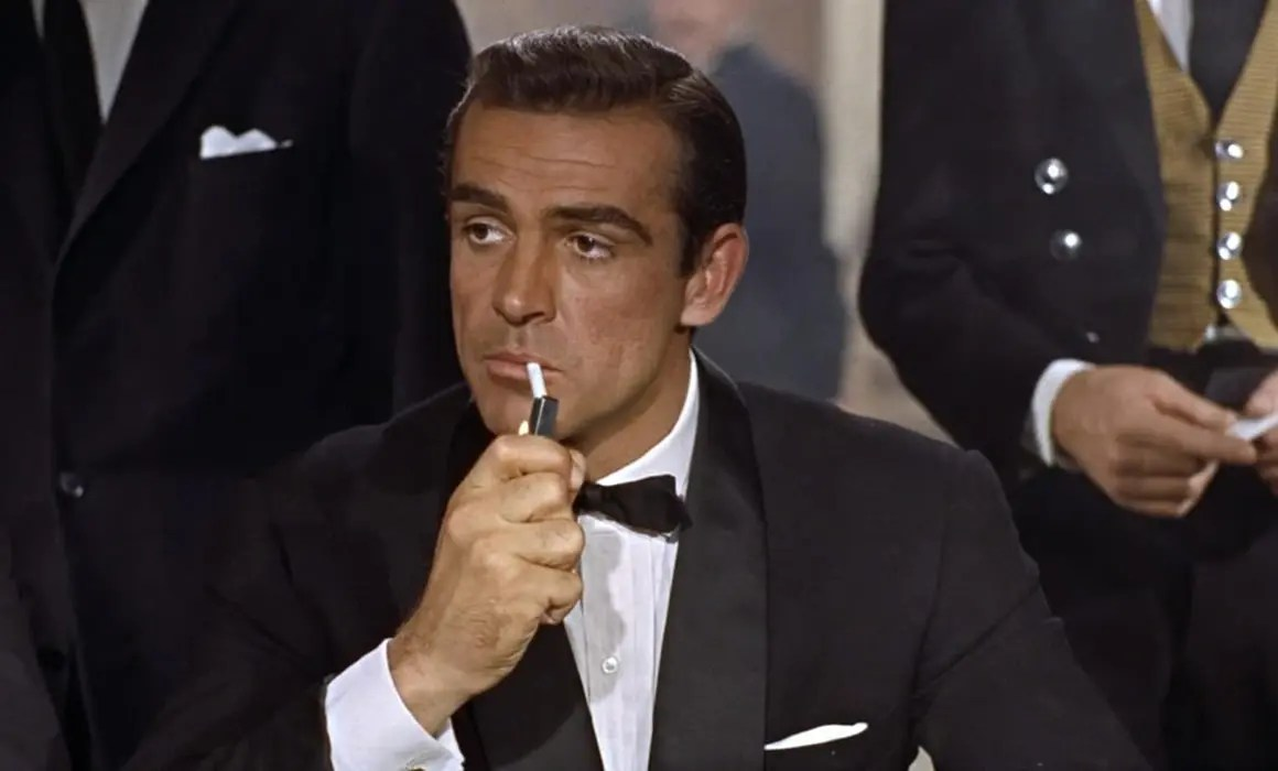 Sean Connery as James Bond wearing Midnight Blue Tuxedo in Dr. No