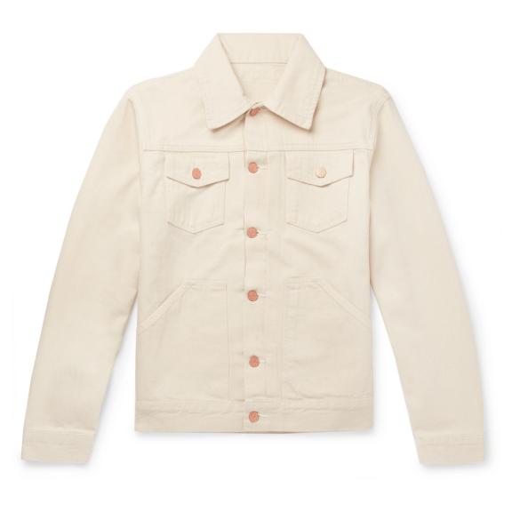 Cream-denim-jacket