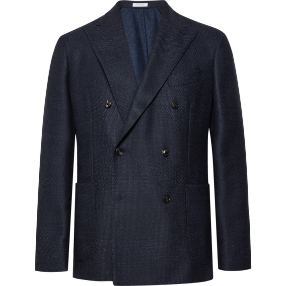 Boglioli Navy Slim-Fit Double-Breasted Virgin Wool Blazer, £670 >