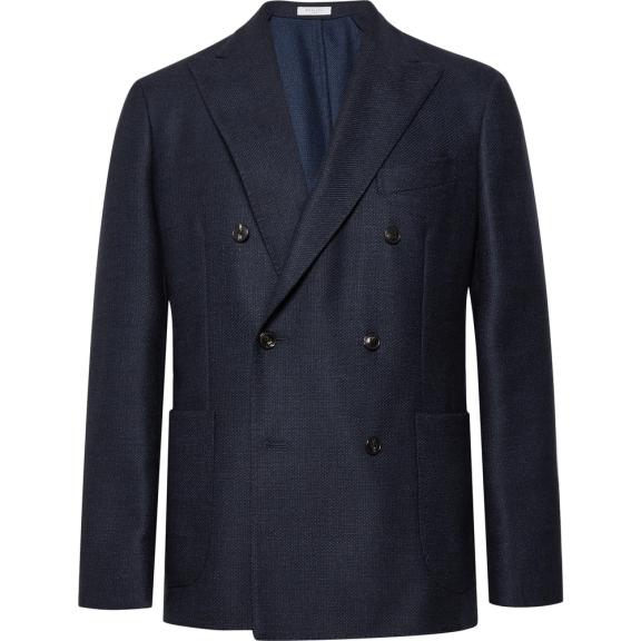 Boglioli Navy Slim-Fit Double-Breasted Virgin Wool Blazer, £670 >