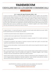 Cedolare Secca Per I Negozi Vademecum Confedilizia Ape Torino