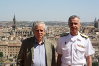 Miguel Ángel Aguilar y el Almirante Fernando García Sánchez.