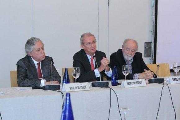 Miguel Ángel Aguilar, Pedro Morenés y Diego Carcedo