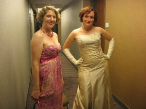 Lynne M. Thomas and Mary Robinette Kowal in All Their Finery