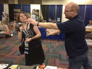 Jason Sizemore Trying to Steal Lynne's Hugo Award