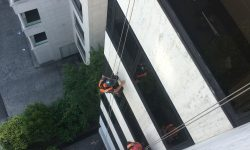 Rope access building inspection
