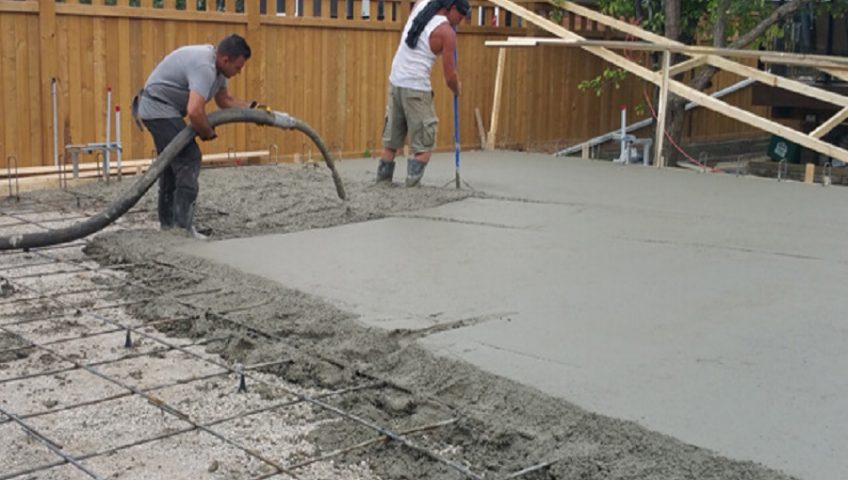 fixing up an existing concrete patio