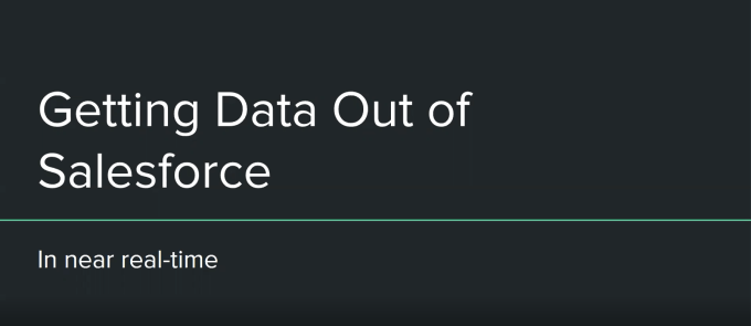 Getting data out of Salesforce in near-realtime