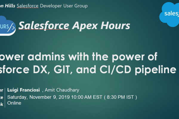 power of Salesforce DX, GIT and CI/CD pipeline
