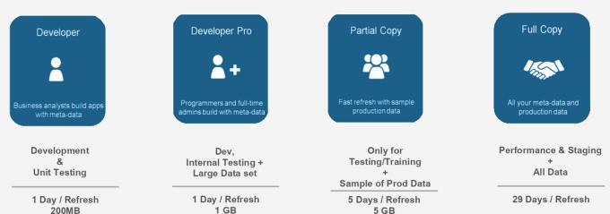 Type of sandbox in Salesforce