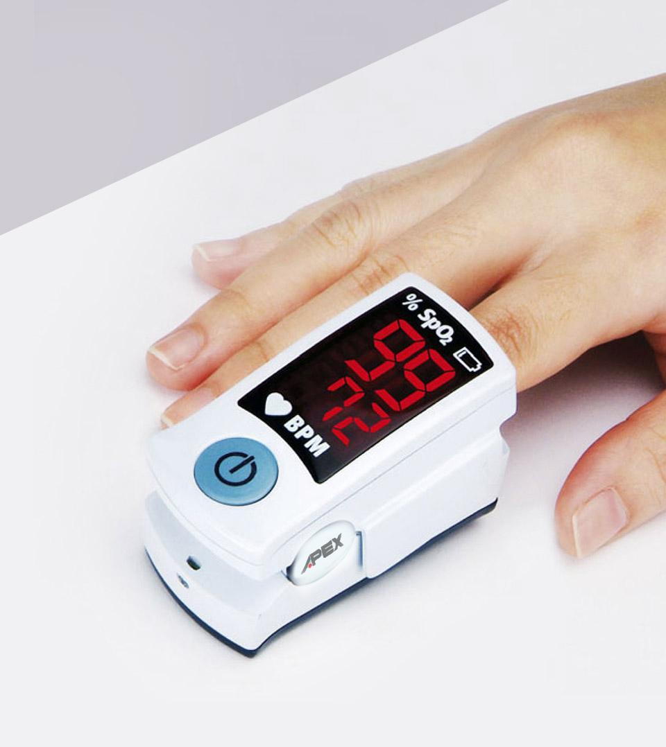 外型輕巧 雃博手指型血氧濃度計 SB100