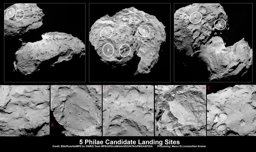 Rosetta-Philae-landing-sites_1_Ken-Kremer