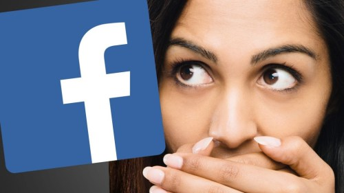 """""""Facebook woman covering mouth"""""""