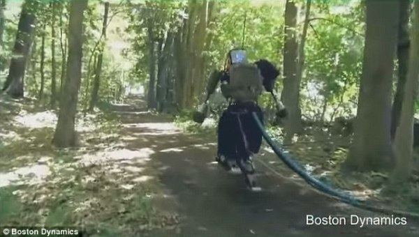 Google Humanoid Robot Goes For A Walk In The Woods