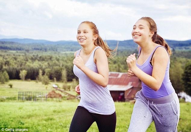 """alt=""""Teen Girls Exercising"""""""