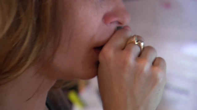 Young woman affected by asthma