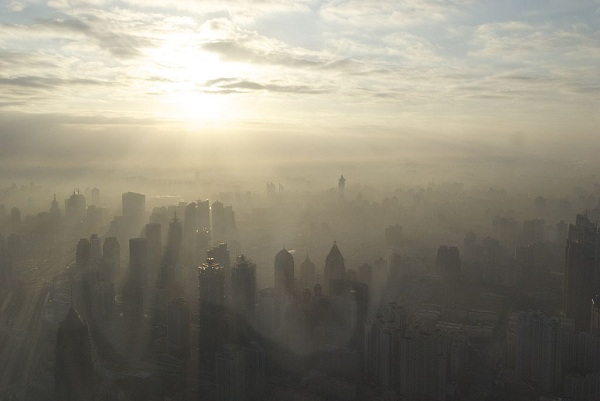 Heavy smog in China