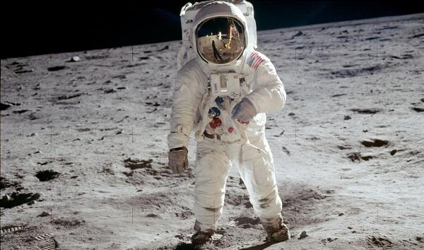 Buzz Aldrin from Apollo 11 on the moon
