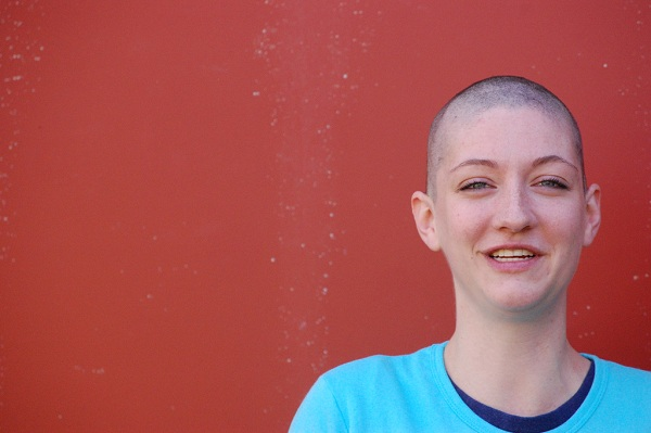 A bald cancer patient
