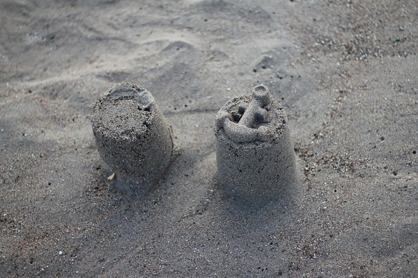 Two sand castles