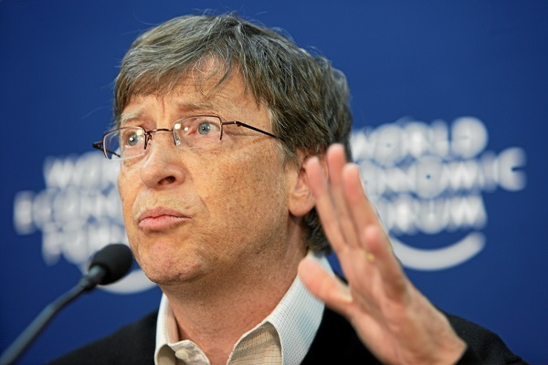 Microsoft founder Bill Gates at Davos in 2008
