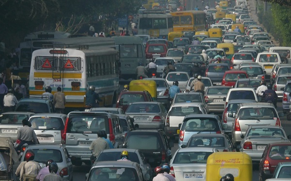 Traffic pollution in India