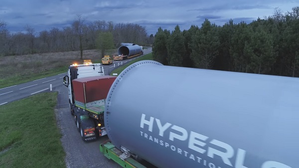 Hyperloop test track in France