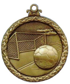 soccer antique medal