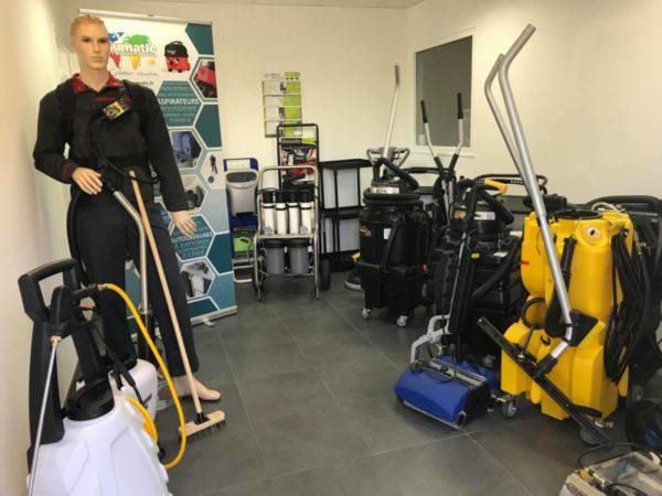 apfn hygiène - showroom - distributeur - matériels pour les professionnels de la propreté
