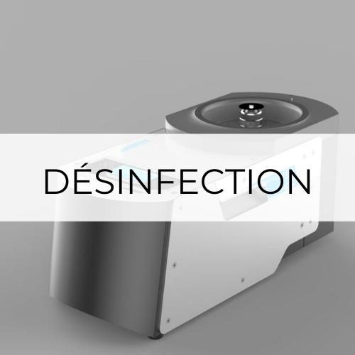 désinfection voie aérienne, pulvérisation