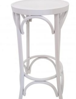 white bentwod bar stool