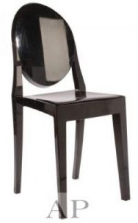 black-louis-ghost-chair-front
