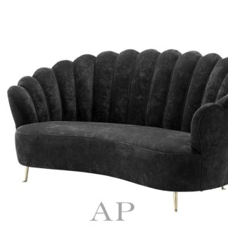 georgia-shell-black-velvet-sofa