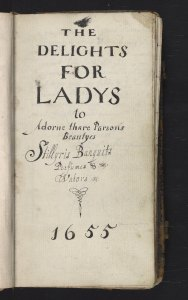 Delights for Ladys – title page