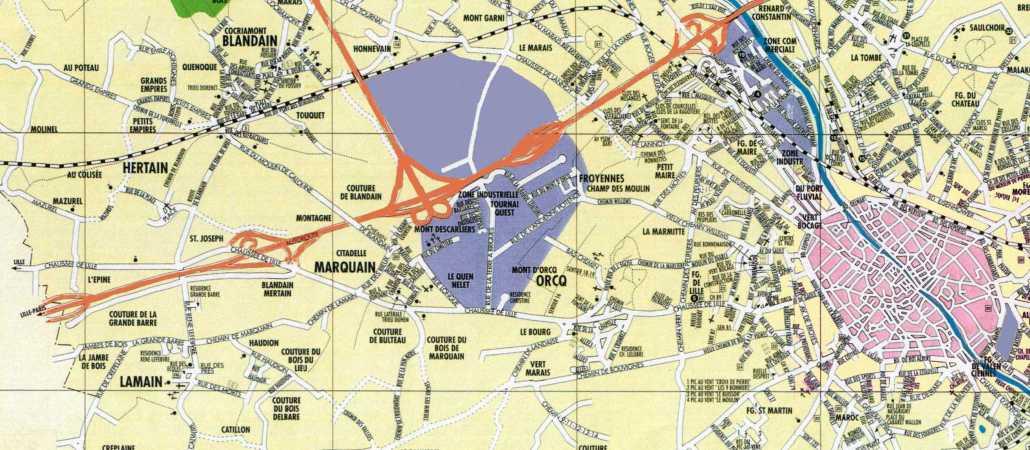 Avant le n° III, Tournai Ouest I et II : 260 ha