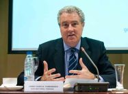 Jordi García Tabernero, director de Comunicación de Gas Natural Fenosa, en un momento de la presentación del Informe de Gas Natural Fenosa sobre periodismo.