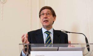 Jose Ignacio Goirigolzarri, presidente de Bankia, durante su intervención en el Curso de Verano de la APIE.