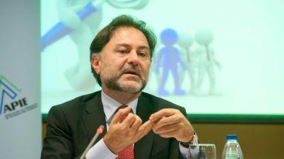 Mario Alonso Ayala, presidente del Instituto de Censores Jurados de España, en un momento de su intervención en el acto sobre auditoría organizado conjuntamente con APIE.