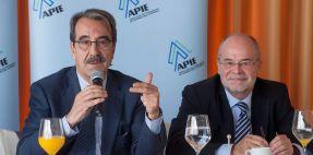 Emilio Ontiveros y Antoni Castells durante la presentación del Policy Brief sobre Unión bancaria de EuropeG