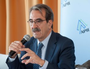 Emilio Ontiveros durante la presentación del Policy Brief sobre Unión bancaria de EuropeG