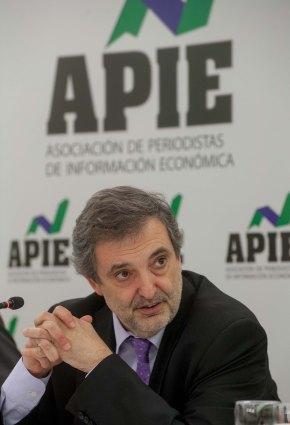 Luis Miguel Gilpérez, Presidente de Telefónica España, en otro momento del almuerzo de prensa con que se cerró la I Jornada del Curso de Economía para Periodistas.